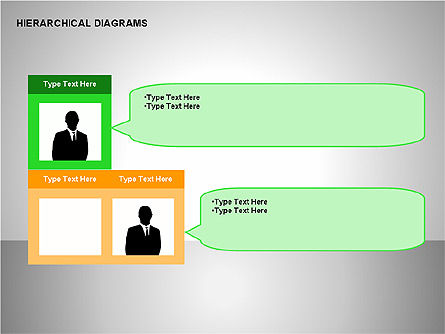 Hierarchical Diagrams, 00167, Organizational Charts — PoweredTemplate.com