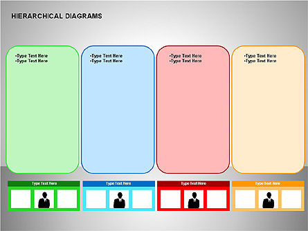 Hierarchical Diagrams, Slide 10, 00167, Organizational Charts — PoweredTemplate.com