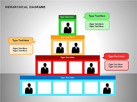 Hierarchical Diagrams, Slide 11, 00167, Organizational Charts — PoweredTemplate.com