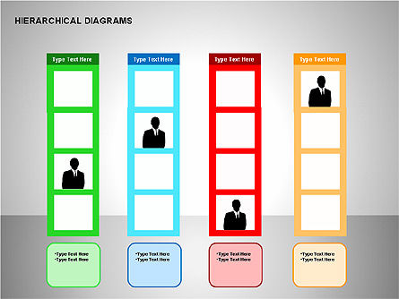 Hierarchical Diagrams, Slide 13, 00167, Organizational Charts — PoweredTemplate.com