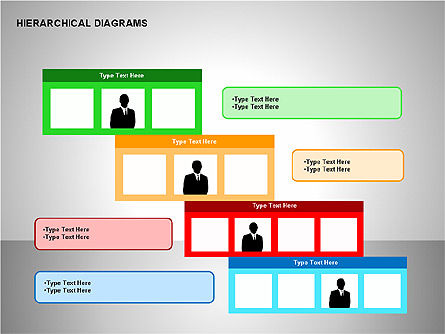 Hierarchical Diagrams, Slide 14, 00167, Organizational Charts — PoweredTemplate.com