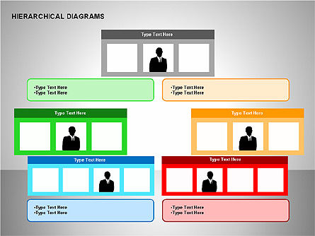 Hierarchical Diagrams, Slide 15, 00167, Organizational Charts — PoweredTemplate.com