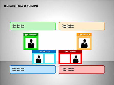 Hierarchical Diagrams, Slide 2, 00167, Organizational Charts — PoweredTemplate.com