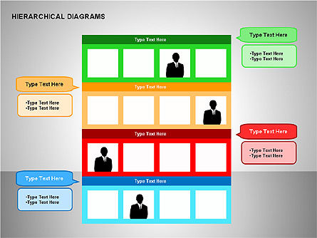Hierarchical Diagrams, Slide 3, 00167, Organizational Charts — PoweredTemplate.com