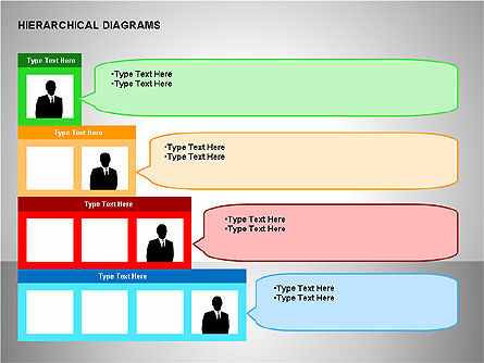 Hierarchical Diagrams, Slide 4, 00167, Organizational Charts — PoweredTemplate.com