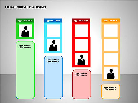 Hierarchical Diagrams, Slide 5, 00167, Organizational Charts — PoweredTemplate.com