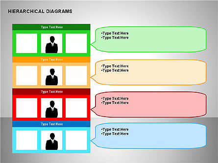 Hierarchical Diagrams, Slide 6, 00167, Organizational Charts — PoweredTemplate.com