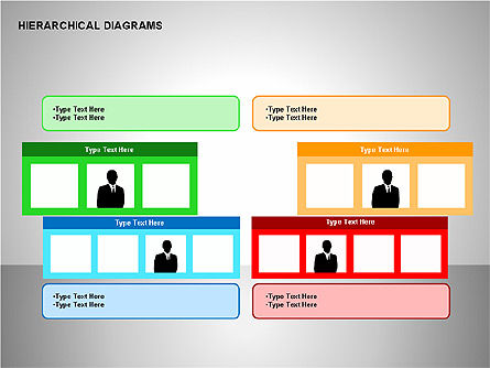 Hierarchical Diagrams, Slide 7, 00167, Organizational Charts — PoweredTemplate.com