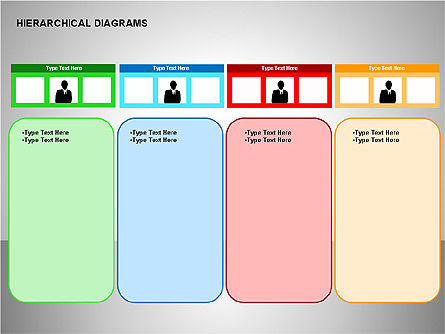 Hierarchical Diagrams, Slide 8, 00167, Organizational Charts — PoweredTemplate.com