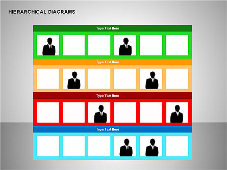 Hierarchical Diagrams, Slide 9, 00167, Organizational Charts — PoweredTemplate.com