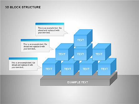 3D Blocks Organizational Charts, Slide 10, 00170, Organizational Charts — PoweredTemplate.com