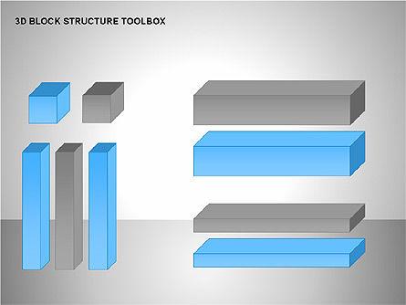 3D Blocks Organizational Charts, Slide 15, 00170, Organizational Charts — PoweredTemplate.com