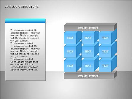 3D Blocks Organizational Charts, Slide 2, 00170, Organizational Charts — PoweredTemplate.com