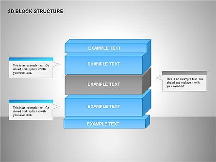 3D Blocks Organizational Charts, Slide 4, 00170, Organizational Charts — PoweredTemplate.com