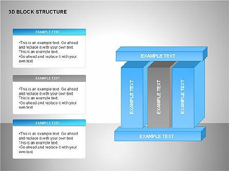 3D Blocks Organizational Charts, Slide 5, 00170, Organizational Charts — PoweredTemplate.com