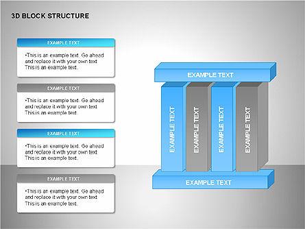 3D Blocks Organizational Charts, Slide 7, 00170, Organizational Charts — PoweredTemplate.com