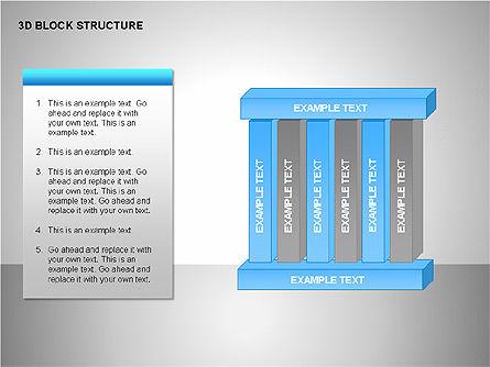 3D Blocks Organizational Charts, Slide 9, 00170, Organizational Charts — PoweredTemplate.com