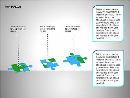 Map Puzzle Shapes, Slide 11, 00171, Puzzle Diagrams — PoweredTemplate.com