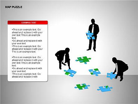 Map Puzzle Shapes, Slide 12, 00171, Puzzle Diagrams — PoweredTemplate.com