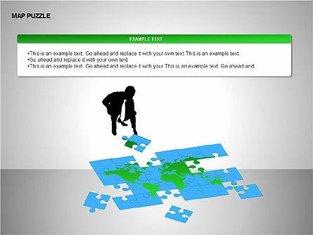 Map Puzzle Shapes, Slide 13, 00171, Puzzle Diagrams — PoweredTemplate.com