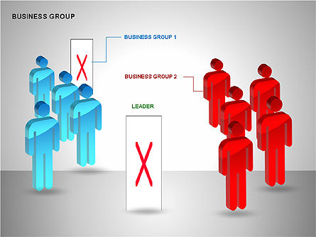 Business Group Diagrams Collection, 00173, Business Models — PoweredTemplate.com