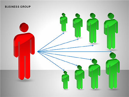 Business Group Diagrams Collection, Slide 12, 00173, Business Models — PoweredTemplate.com