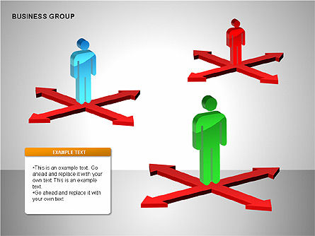 Business Group Diagrams Collection, Slide 13, 00173, Business Models — PoweredTemplate.com