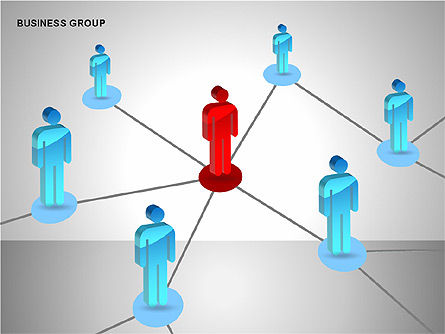 Business Group Diagrams Collection, Slide 8, 00173, Business Models — PoweredTemplate.com