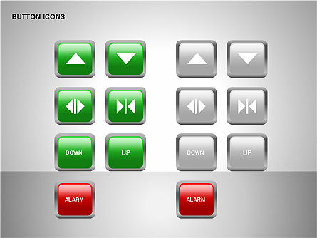Buttons Collection, Slide 10, 00174, Icons — PoweredTemplate.com