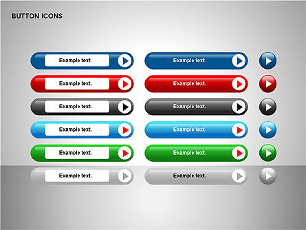 Buttons Collection, Slide 11, 00174, Icons — PoweredTemplate.com