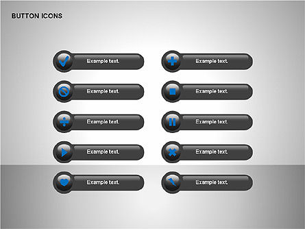 Buttons Collection, Slide 5, 00174, Icons — PoweredTemplate.com