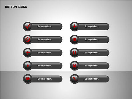 Buttons Collection, Slide 6, 00174, Icons — PoweredTemplate.com