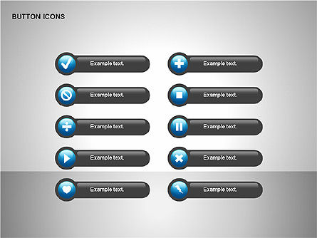 Buttons Collection, Slide 7, 00174, Icons — PoweredTemplate.com