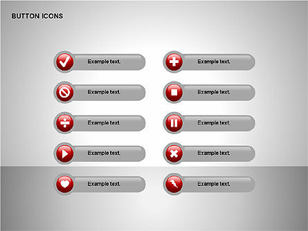 Buttons Collection, Slide 8, 00174, Icons — PoweredTemplate.com