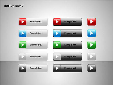 Buttons Collection, Slide 9, 00174, Icons — PoweredTemplate.com