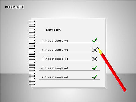 Checklist with Stickers  Collection, Slide 7, 00175, Shapes — PoweredTemplate.com