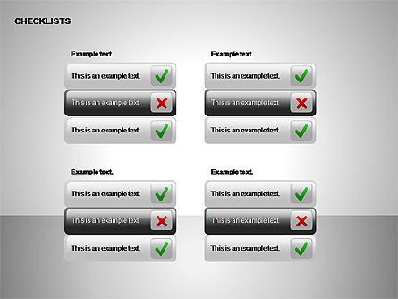 Checklist with Stickers  Collection, Slide 9, 00175, Shapes — PoweredTemplate.com