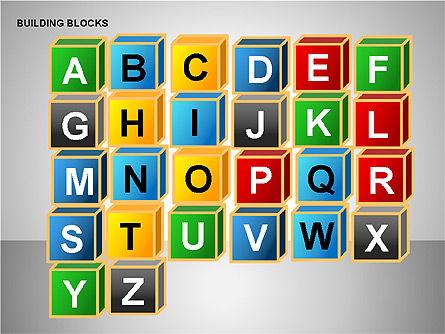 Building Blocks Collection, Slide 13, 00176, Shapes — PoweredTemplate.com