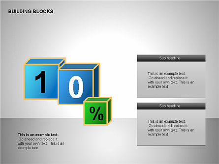Building Blocks Collection, Slide 5, 00176, Shapes — PoweredTemplate.com