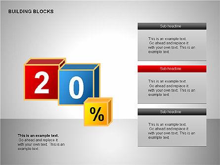 Building Blocks Collection, Slide 6, 00176, Shapes — PoweredTemplate.com