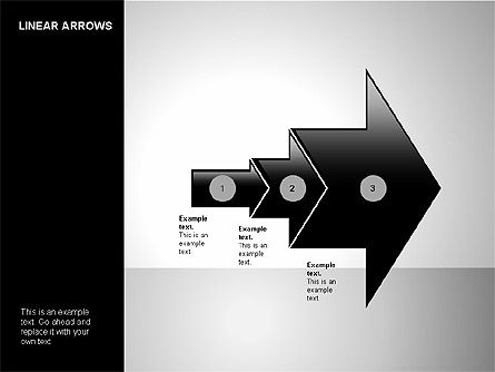Linear Arrows Collection, 00178, Shapes — PoweredTemplate.com