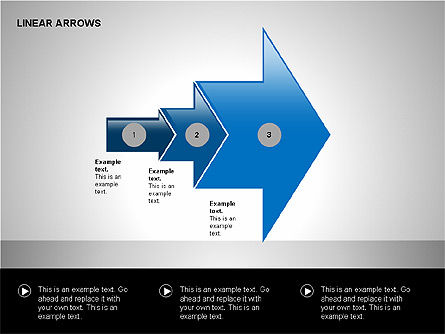 Linear Arrows Collection, Slide 11, 00178, Shapes — PoweredTemplate.com