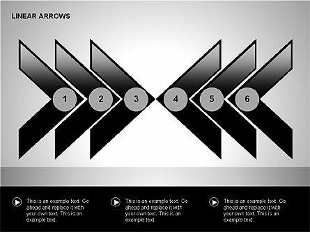Linear Arrows Collection, Slide 12, 00178, Shapes — PoweredTemplate.com