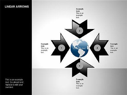 Linear Arrows Collection, Slide 15, 00178, Shapes — PoweredTemplate.com