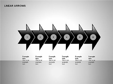 Linear Arrows Collection, Slide 2, 00178, Shapes — PoweredTemplate.com