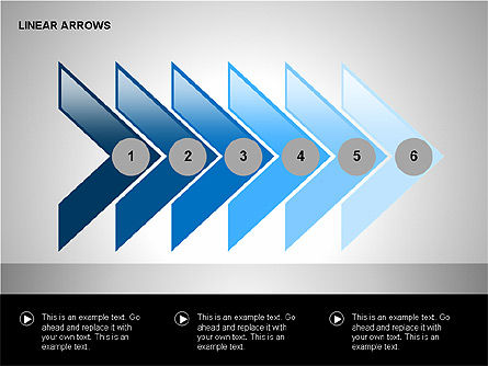 Linear Arrows Collection, Slide 4, 00178, Shapes — PoweredTemplate.com