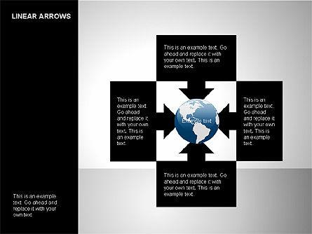 Linear Arrows Collection, Slide 6, 00178, Shapes — PoweredTemplate.com