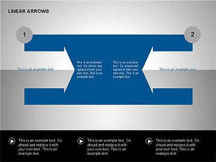 Linear Arrows Collection, Slide 7, 00178, Shapes — PoweredTemplate.com