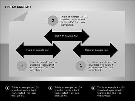 Linear Arrows Collection, Slide 8, 00178, Shapes — PoweredTemplate.com