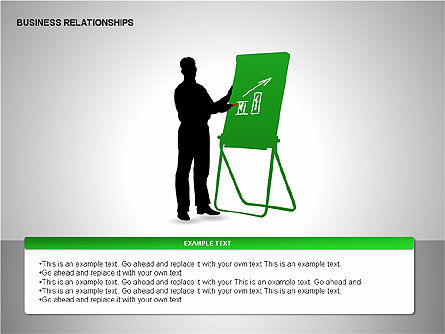 Business Relationships, Slide 11, 00179, Organizational Charts — PoweredTemplate.com
